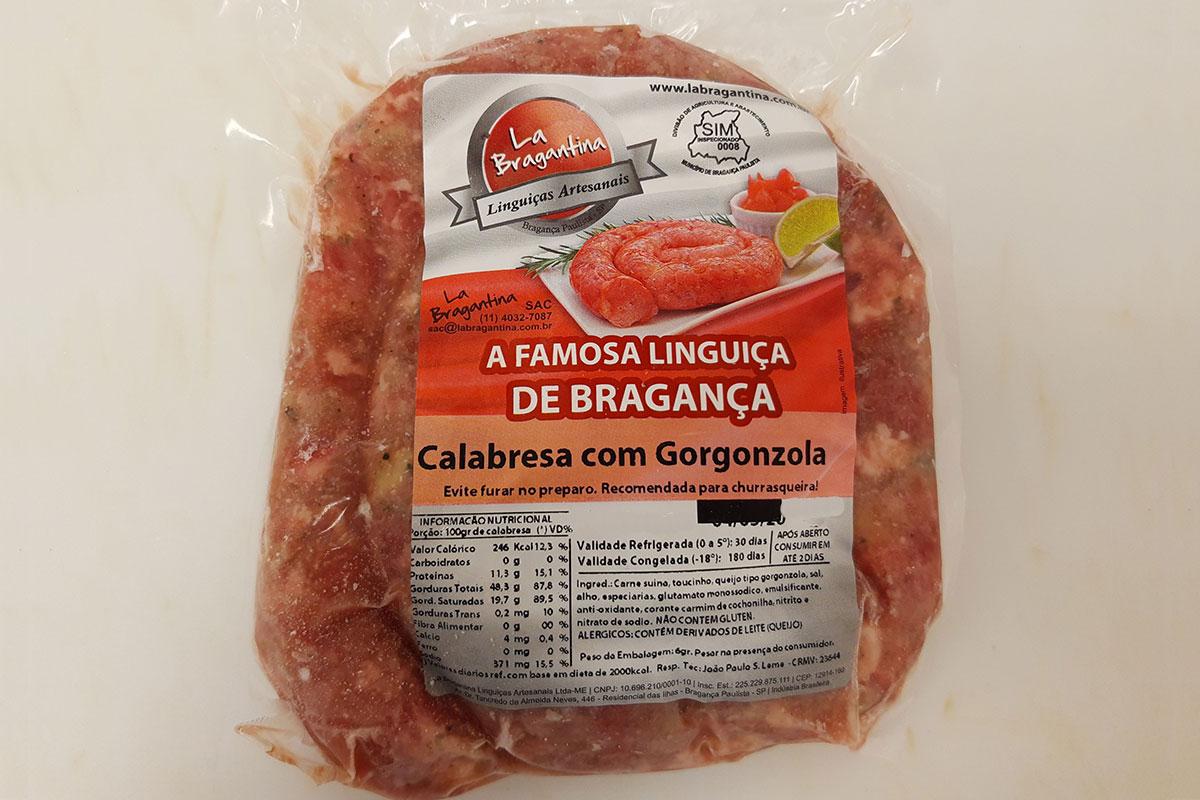 Linguiça bragantina c/ gorgonzola